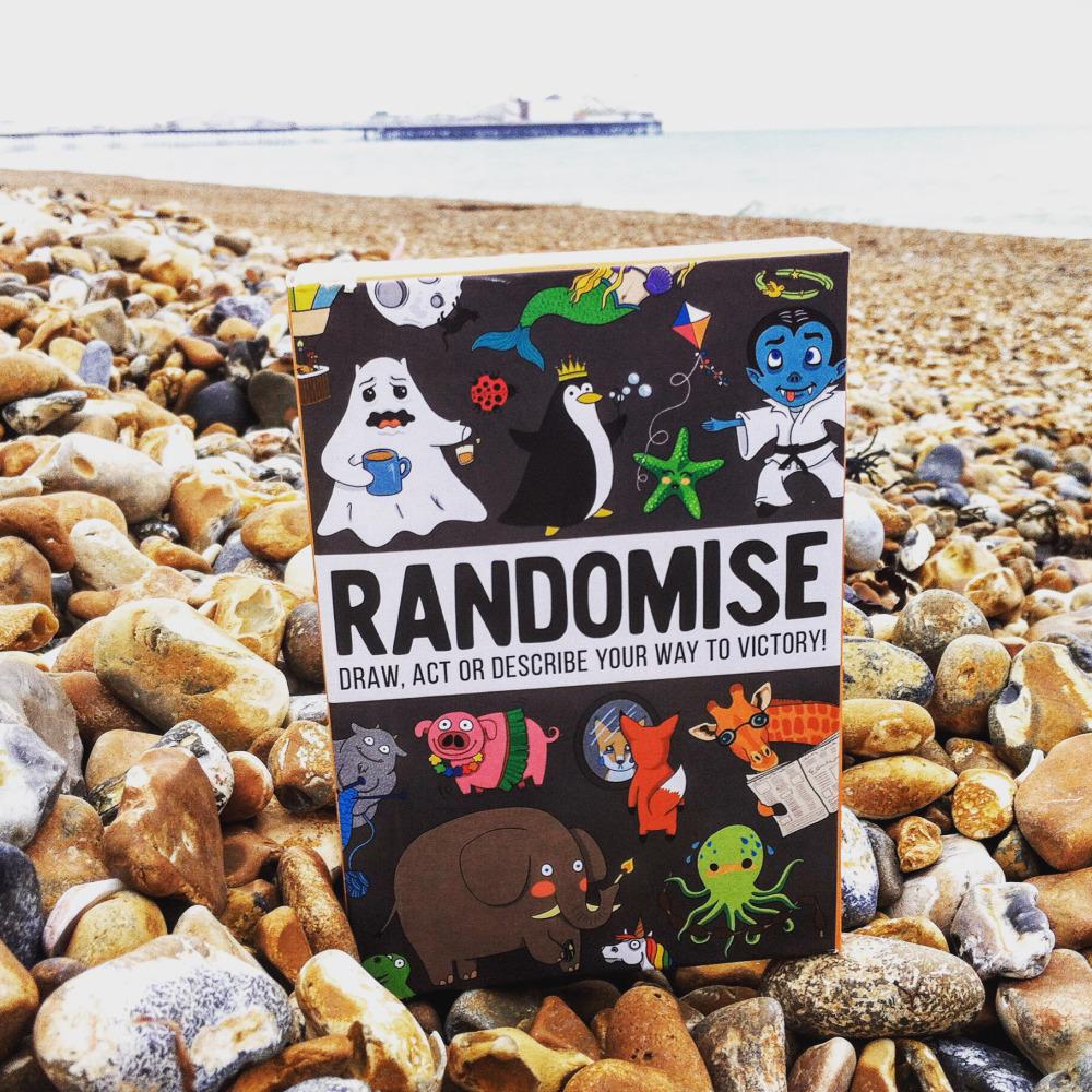 R on beach